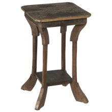Reclaimed Wood Square Side Table.