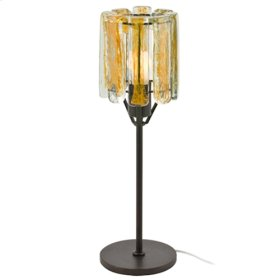 Blown Glass Yellow Table Lamp