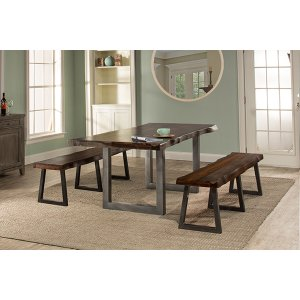 Hillsdale FurnitureEmerson 3pc Rectangle Dining Set With 2 Benches - Gray Sheesham