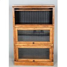 "#522-3 Lawyer Bookcase 3 piece 33""wx14""dx49.5""h"
