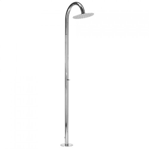 Polished Stainless - Aqua Outdoor Shower Column- Floor Install