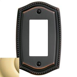 Polished Brass Rope Single GFCI Product Image