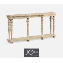 Rectangular Limed Acacia Console