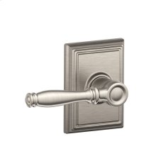 Birmingham Lever with Addison Trim Hall & Closet Lock - Satin Nickel