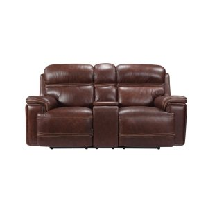 Leather Italia Usa Eh2394 Fresno Console Pwr Loveseat Pwr Hdrst 1004l