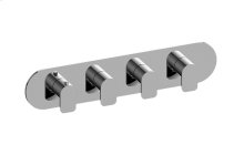 Sento M-Series Valve Horizontal Trim with Four Handles