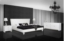 A&X Monica - Transitional White Leatherette Bed