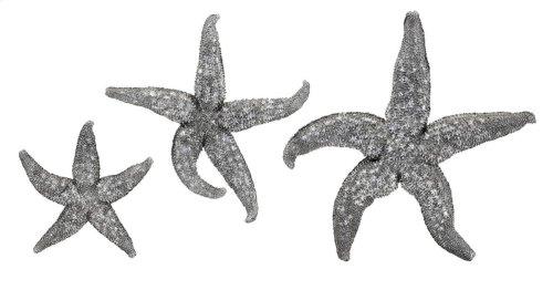 Magali Silver Starfish Wall Decors - Set of 3