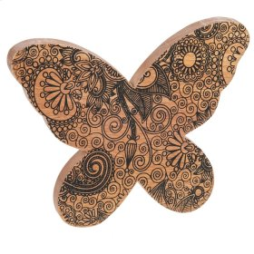 Mango Wood Patterned Butterfly