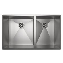 ROHL 1 1/2 Bowl Stainless Steel Kitchen Sink