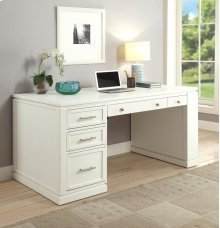 "2pc 60"" Writing Desk With Pwr Ctr & Usb"