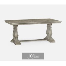 "71"" Rustic Grey Rectangular Extending Dining Table"