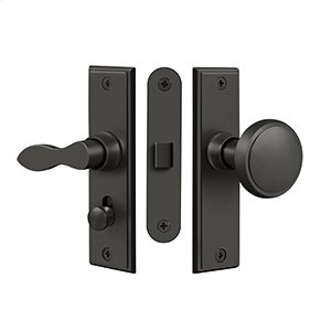 Storm Door Latch, Square, Mortise Lock - Oil-rubbed Bronze