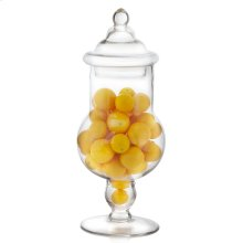 Oranges In Tall Glass Apothecary Jar