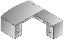 "Napa L Shape W/bow Top Desk 71""x89"""