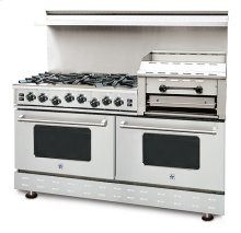 "60"" BlueStar - Residential Nova Burner (RNB) - Heritage Classic Gas Range with 4.5 Cu. Ft. Convection Ovens and Raised Double Griddle"