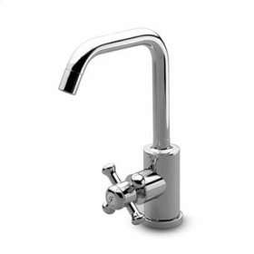 Pillar tap with swivel spout.