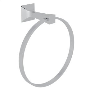 Polished Chrome Vincent Wall Mount Towel Ring