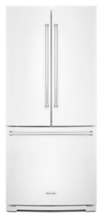 20 cu. Ft. 30-Inch Width Standard Depth French Door Refrigerator with Interior Dispense - White Product Image