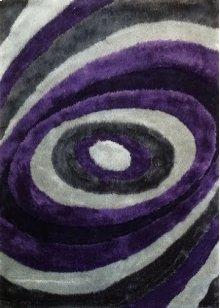 105 Gray Purple Rug