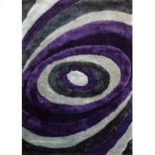 105 Gray Purple Rug