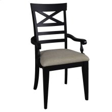X Back Arm Chair - Black (RTA)