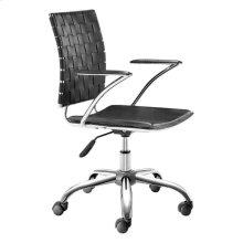 Criss Cross Office Chair Black