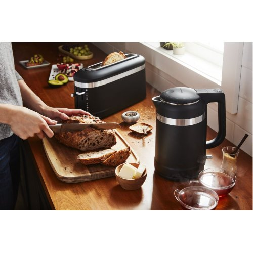 2 Slice Long Slot Toaster with High-Lift Lever - Black Matte