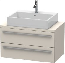 X-large Vanity Unit For Console Compact, Taupe Matt (decor)