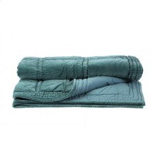 Blanket 180x130 cm THROW velvet ocean blue