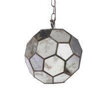Antique Mirror Faceted Ball Pendant.