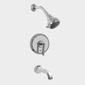 300 Series Pressure Balance Tub and Shower Set with Aria Handle (available as trim only P/N: 1.300168T)