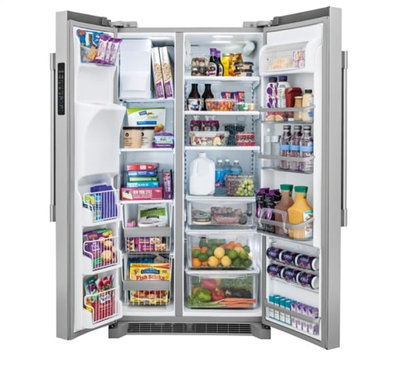 Frigidaire Professional 22 6 Cu  Ft  Counter-Depth Side-by-Side Refrigerator