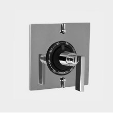 """1/2"""" Thermostatic Shower Set with Stixx Handle and Square Plate with Two Volume Controls (available as trim only P/N: 1.059596.V2T)"""