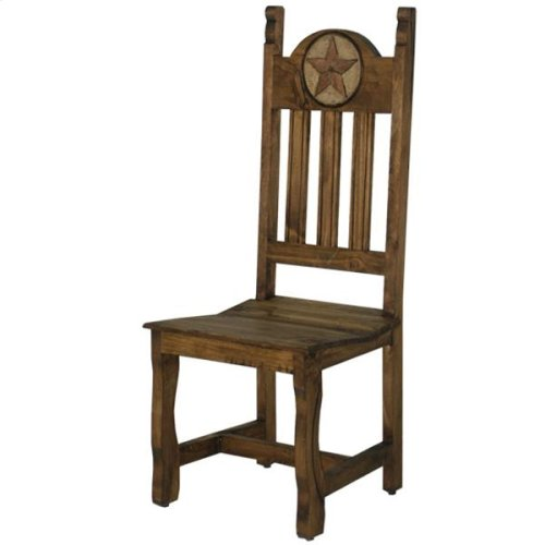 Dining Chair W/Stone Star&Wood Seat
