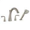 Satin Nickel Fluent Deck-Mount Tub Filler Less Personal Shower