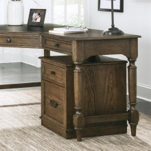 Cordero - Mobile File Cabinet - Aged Oak Finish