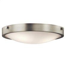 Lytham Collection 3 Light Flush Mount Ceiling  Brushed Nickel
