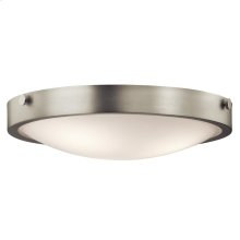 Lytham Collection 3 Light Flush Mount Ceiling  Brushed Nickel