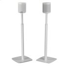 White- Pair of secure and adjustable floor stands for home cinema surrounds. Product Image