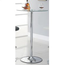Contemporary Chrome LED Bar Table