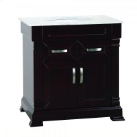 Single 31 in. Brown Finish Vanity Product Image