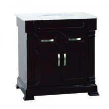 Single 31 in. Brown Finish Vanity