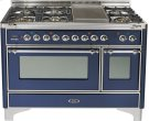 Midnight Blue with Chrome trim - Majestic 48-inch Range with Griddle Product Image