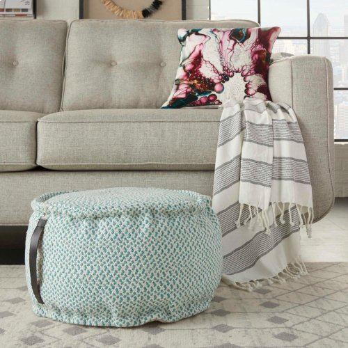 """Outdoor Pillows As220 Turquoise 20"""" X 20"""" X 12"""" Poufs"""