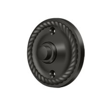 Bell Button, Round Rope - Oil-rubbed Bronze