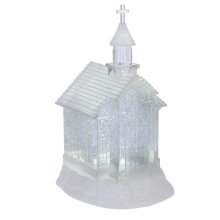Lighted LED Shimmer Church.