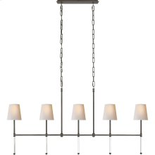 Visual Comfort SK5055BZ-NP Suzanne Kasler Camille 5 Light 53 inch Bronze Linear Chandelier Ceiling Light, Medium