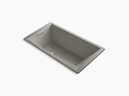 "Cashmere 66"" X 36"" Drop-in Vibracoustic Bath With End Drain and Chromatherapy"