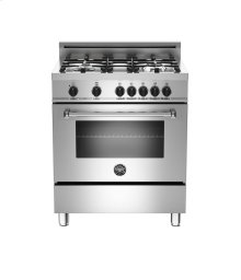 Stainless 30 4-Burner, Electric Oven